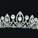 Flower Headband Tiara Crown Clear Rhinestone Crystals For Princess Prom SHA8631