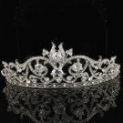 Charming Flower Tiara Crown Bridal Wedding Clear Swarovski Crystals SH8439-0C