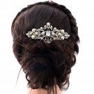 Rhinestone Crystals Flower Comb Bridal Imitation Pearls Hair Accessories 1467R1