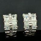Symmetrical Rhinestone Crystal Hoop Pierced Earring Women Jewelry Wedding 01180