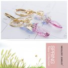 3 Colors Rhinestone Crystals Sparkly Alloy  Drop Dangle Earrings for Women 01325