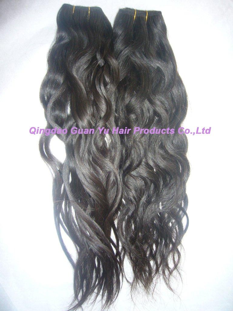 "20"" 100% Brizilian virgin water wave human hair weft"