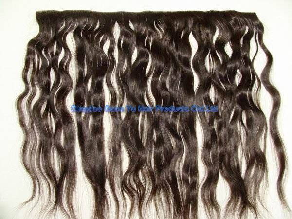 "18"" 100% Brizilian water wave human skinweft"