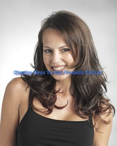 """16"""" 100% Indian clip in human hair extention"""