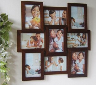 wooden photo frame HOME DECOR 9 pcs 7 inch picture