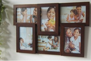 wooden photo frame HOME DECOR 6 pcs 6 inch picture