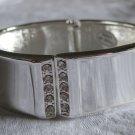silver cuff with rhinestones