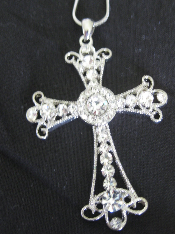 Austrian Crystal cross set