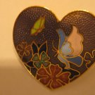 Cloisonne Heart Pin