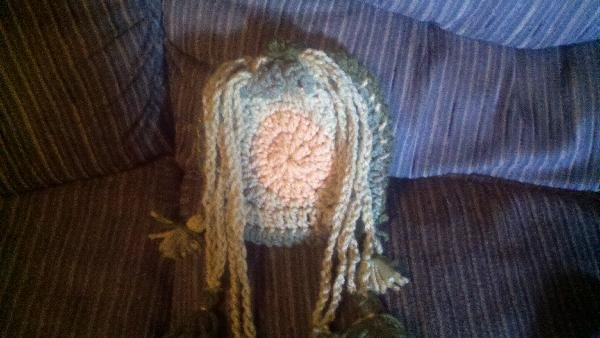 CROCHET MINI BAG TO FIT MAKE UP OR LITTLE ODDS AND ENDS