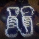 CROCHET BABY SNEAKER BOOTS 0-6MONTHS