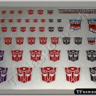 Transformers G1 Autobot Symbol Sticker Decal Sheet #2