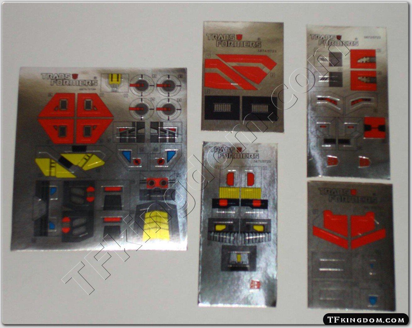 Transformers G1 Computron Set Sticker Decal Sheet