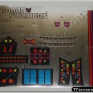 Transformers G1 Galvatron Sticker Decal Sheet