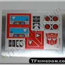 Transformers G1 Blaster Sticker Decal Sheet