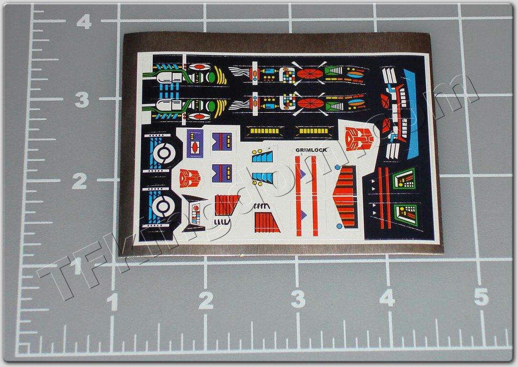 Transformers G1 Grimlock Sticker Decal Sheet