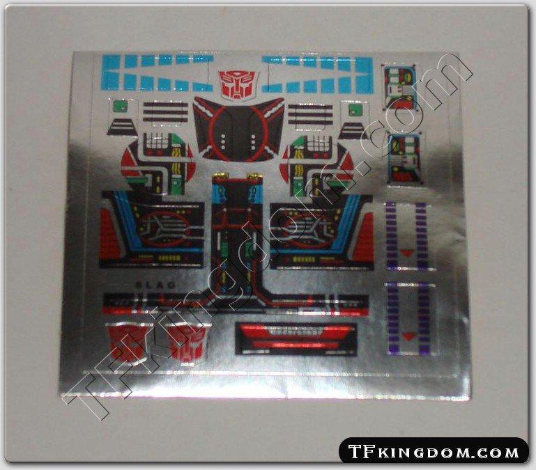 Transformers G1 Slag Sticker Decal Sheet