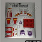 Transformers G1 Dirge Sticker Decal Sheet
