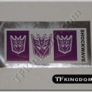 Transformers G1 Shockwave Sticker Decal Sheet
