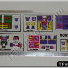 Transformers G1 Monstructor Sticker Decal Sheet