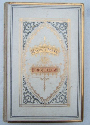 MOXONS POETS LONGFELLOW WHITE LEATHER 1870s GILT METAL