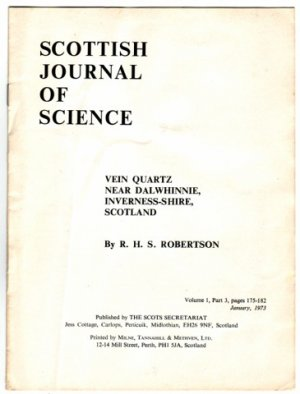 VEIN QUARTZ NEAR DALWHINNIE SCOTTISH JOURNAL OF SCIENCE PAPER