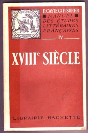 MANUEL DES ETUDES LITTERAIRES FRANCAISES XVIIIe SIECLE
