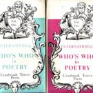 WHO'S WHO IN POETRY VOLS 1 & 2 CRANBROOKE 1958 HBDJ