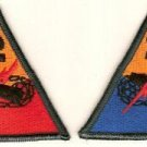 2ND ARMORED DIVISION PATCHES INSIGNIA 10/69 LOT OF 2