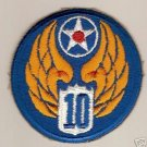 10TH ARMY AIR FORCE COLOR PATCH INSIGNIA WWII