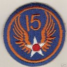 15TH ARMY AIR FORCE COLOR PATCH INSIGNIA WWII