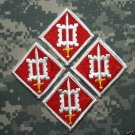 18th Engineer Brigade Color Patch Lot of 4