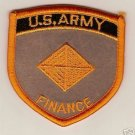 "ARMY BOS ""FINANCE"" COLOR PATCH INSIGNIA"