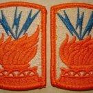 ARMY 187th SIGNAL BRIGADE PATCH INSIGNIA NEW NR QTY 2
