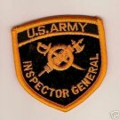 """ARMY BOS """"INSPECTOR GENERAL"""" COLOR PATCH INSIGNIA"""