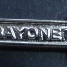 "ARMY BADGE QUALIFICATION BAR ""BAYONET"" BF"