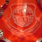 AIR MOBILITY COMMAND GLASS ORNAMENT CHRISTMAS AMC LOGO