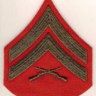 MARINE CORPS CORPORAL, GREEN ON RED, FEMALE, E-4