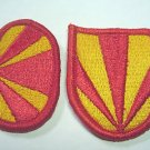 BERET FLASH & OVAL 4TH AIR DEFENSE ARTILLERY ADA