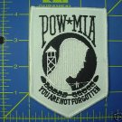 POW / MIA BLACK ON WHITE PATCH INSIGNIA