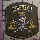 "RANGER PATCH ""MESS WITH THE BEST"" NEW"