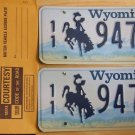 Wyoming license plate pair 11-947 BF Park County New