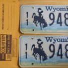 Wyoming license plate pair 11-948 BF Park County New
