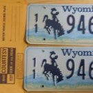 Wyoming license plate pair 11-946 BF Park County New