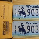 Wyoming license plate pair 11- 903 BF Park County New