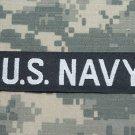 Navy White on Black Name Tape