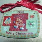 LONGABERGER 2002 MERRY CHRISTMAS TIE-ON NIP #20078