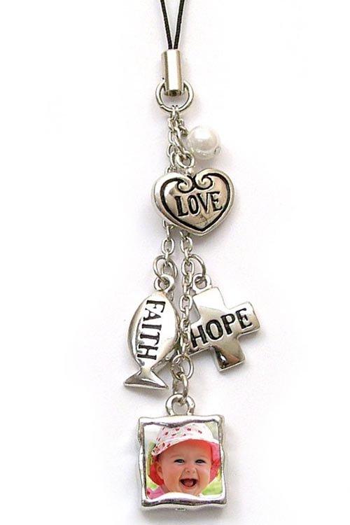 Cell Phone Charm - Faith, Hope & Love