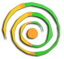 Spiral ArtCar Magnets - 2 pack, large