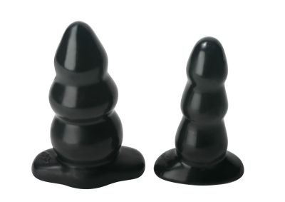 """Large 5.5"""" Smooth Triple Bubble Butt Plug Anal Dildo 2+"""" Wide"""